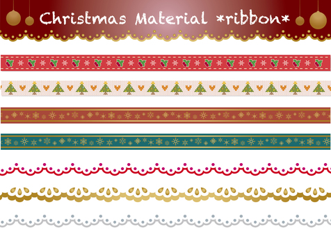 Christmas material ribbon