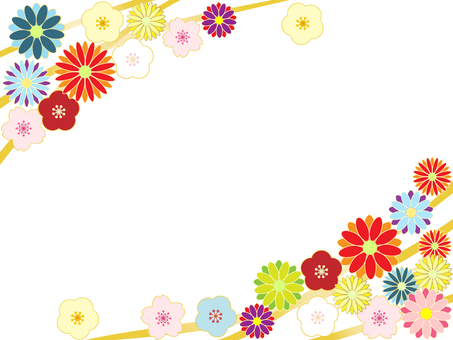 ดอกเบญจมาศดอกซากุระและลูกพลัม
