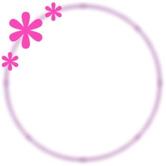 둥근 꽃 프레임