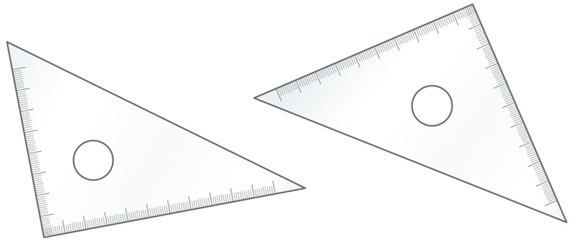 Simple triangle ruler