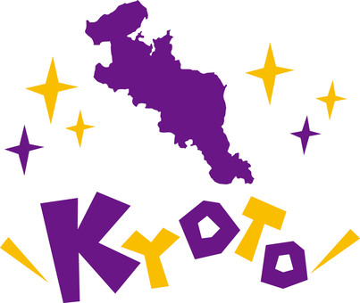 Map of Kyoto Prefecture ☆ KYOTO ☆ POP logo