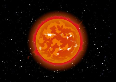 태양 우주 별이 빛나는 하늘 벽지