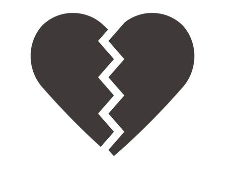 Cracked heart icon