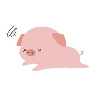 死んでいる豚
