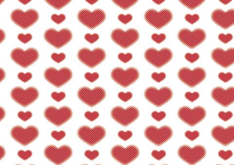 Dot Heart Pattern