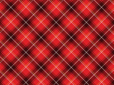 Red tartan check B 01