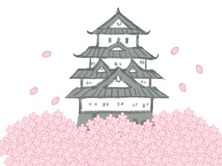 벚꽃과 캐슬