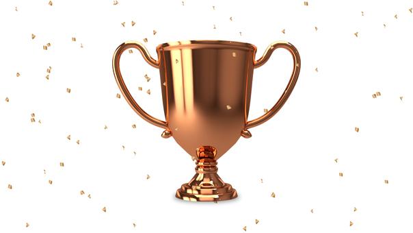 Trophy _ copper _ confetti