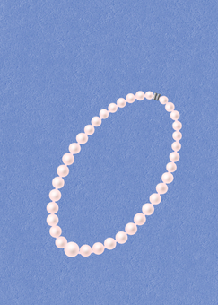 Pearl necklace (pink)
