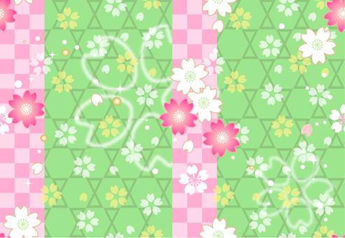Endless pattern Sakura Japanese pattern