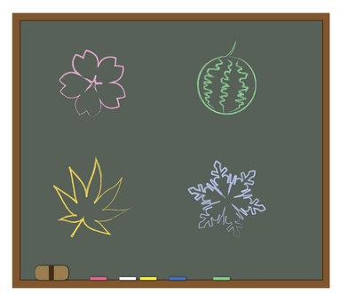 Blackboard (with seasonal motif)
