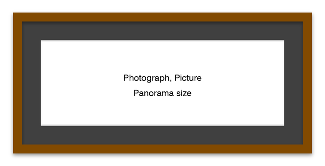 Panorama frame Brown (black mat)