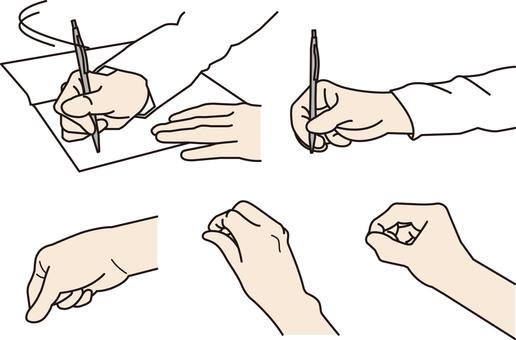 "Illustration of ""writing"" hands"