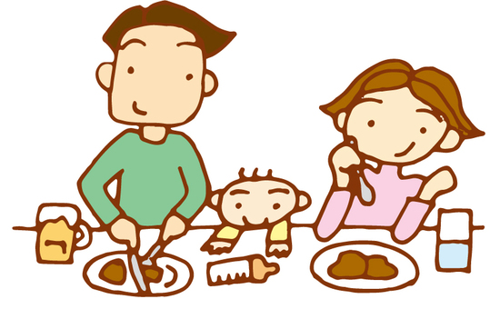 3 people family _ meat dishes