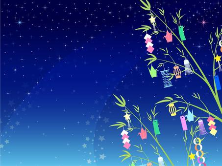 ai Summer Tanabata Bamboo and Milky Way Background