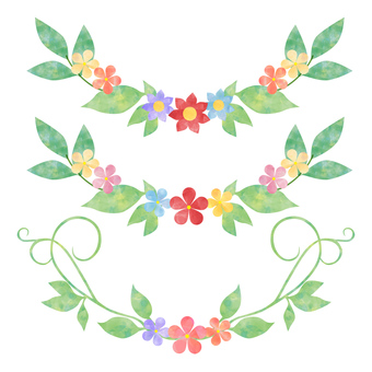 Flowers and leaves _ decorations