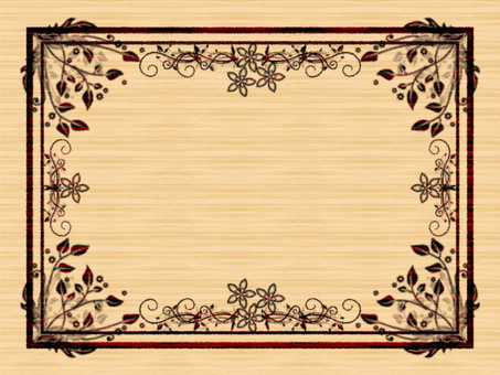 Brand-name wind frame with background Flowers