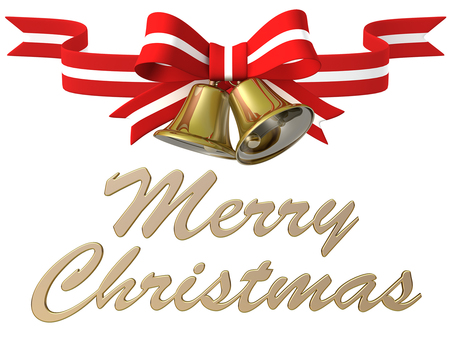 Merry Christmas Bell Ribbon 2