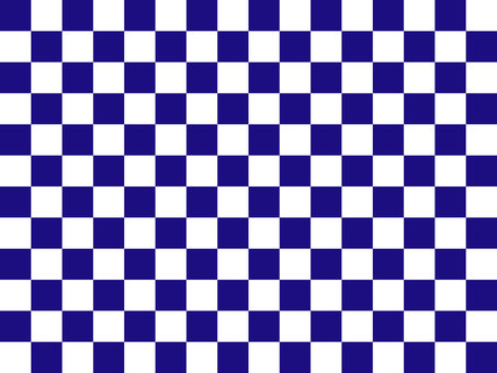 Pattern checkered indigo