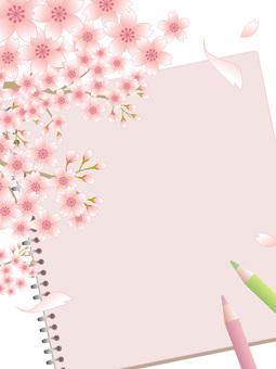 80302.桜とスケッチブック,縦2