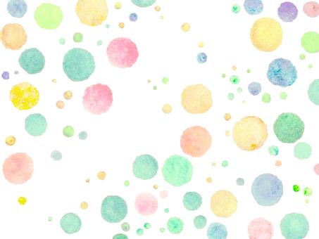 Hand-painted dot pattern illustration Polka-dot pattern background Wallpaper