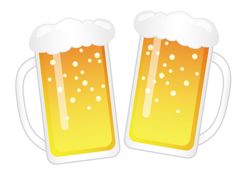 Cheers! Illustration of a beer mug