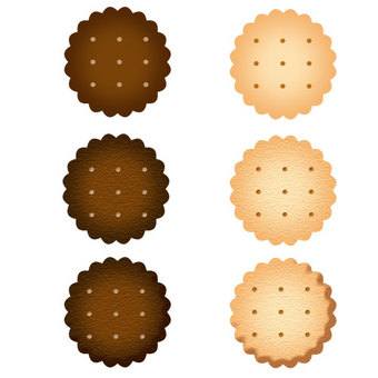 Cookies (jagged shape, with holes) 3 types set