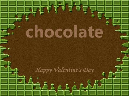 초콜릿 프레임 녹차 녹는 튄다