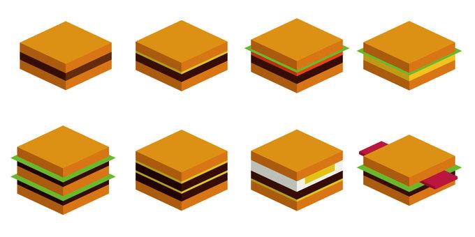 Hamburger 8 pieces (no wire)