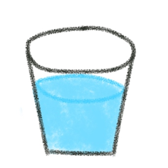 Illustration of water in a glass