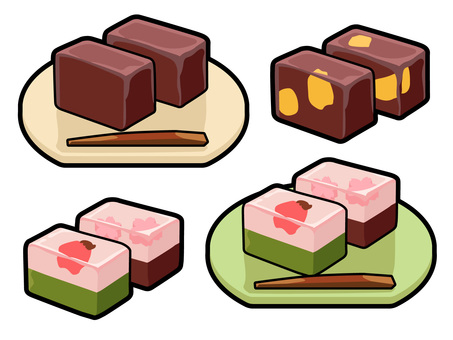 Cooking _ Japanese-style confectionery _ 羊 羹 _ line available