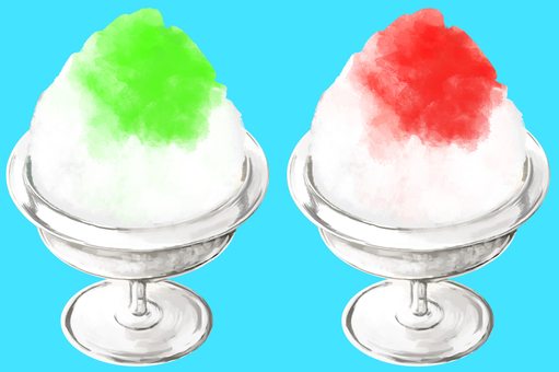 Shaved ice Strawberry & melon without outline