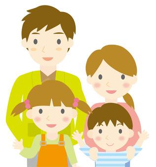 Four family upper body