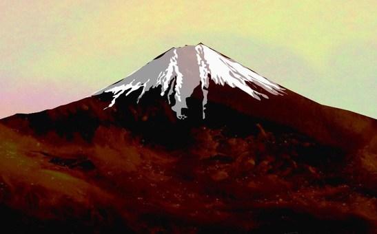 富士在初冬