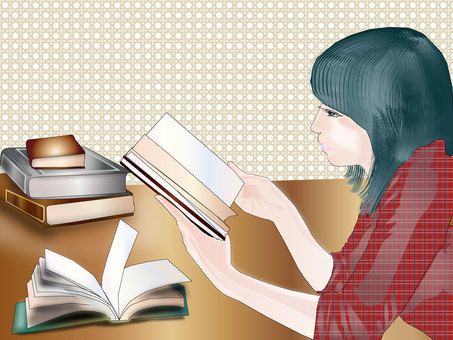 A woman reading a book 07