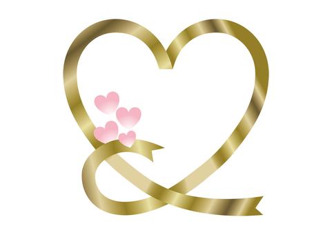 Gold Heart Pink Heart 1