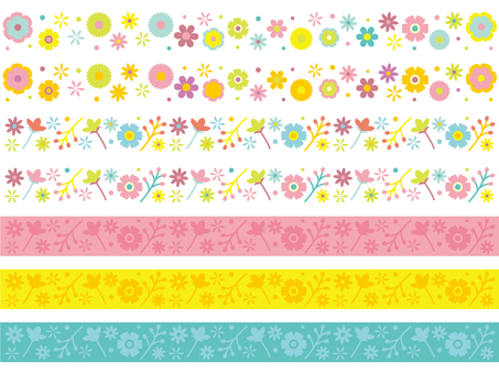 Colorful pop flower line
