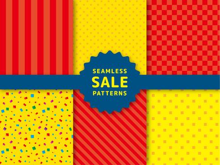 Sale background pattern set