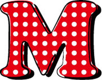 Dotted alphabet M