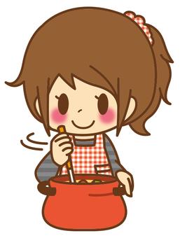 女*烹飪烹飪_鍋