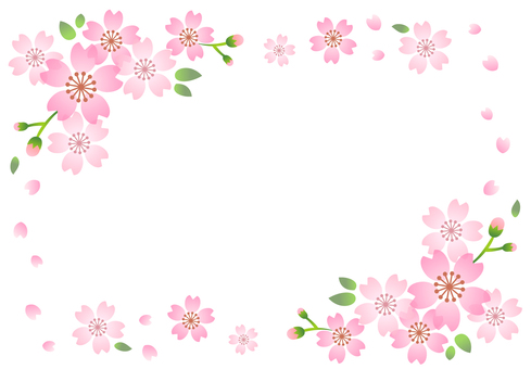 Cherry background frame