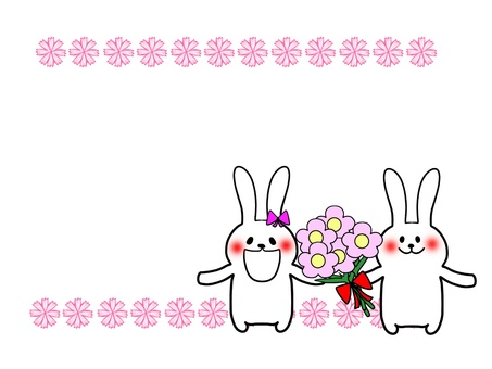 Flowers and rabbits 3