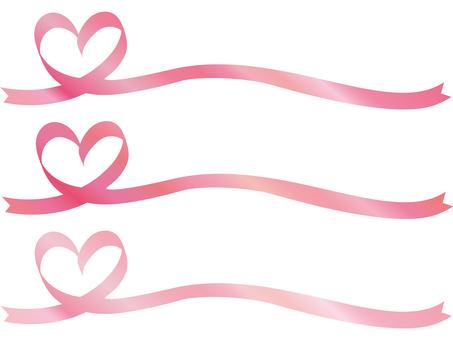 Ribbon Heart Pink Ribbon frame frame Spring cherry color