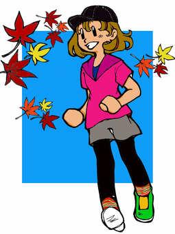 Fall marathon girls color version