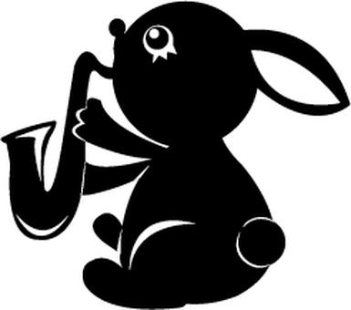 색소폰 토끼