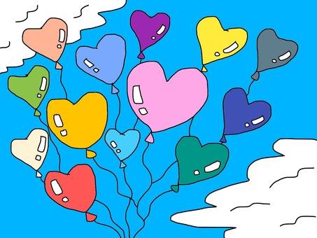 心臟氣球背景