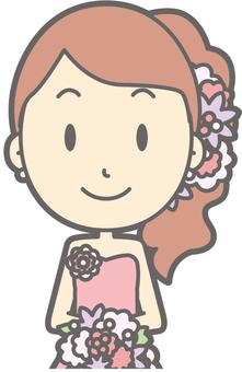Bride Pink - Front 2 - Bust