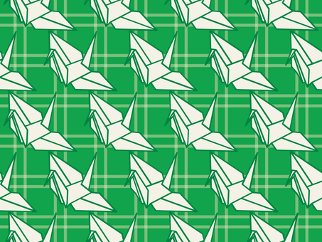 Wallpaper Folded crane 01 Loopy green