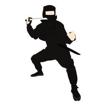 A black ninja holding a sword (3)