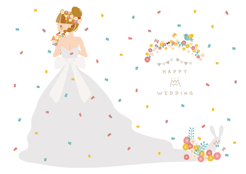 Flowers and wedding dress 2